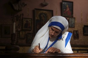 Mother Teresa writing letter