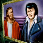 Look over there, it's Elvis! I mean Jesus!!