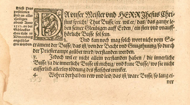 First print of the German version of the 95 Theses. 1557 - KP Yohannan - Gospel for Asia