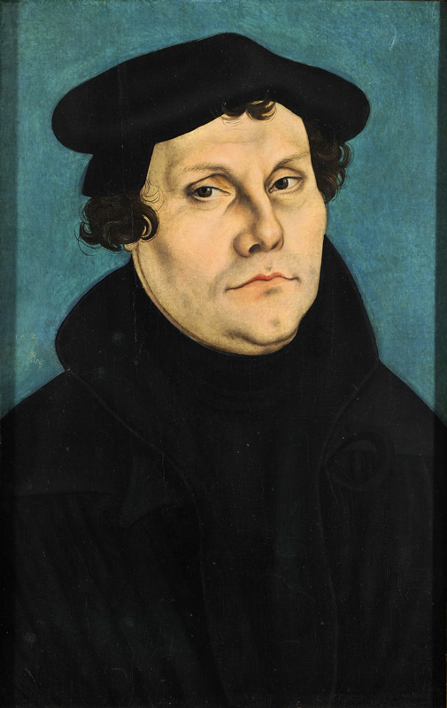 Portrait of Martin Luther by Lucas Cranach der Ältere, painted in 1528 - KP Yohannan - Gospel for Asia