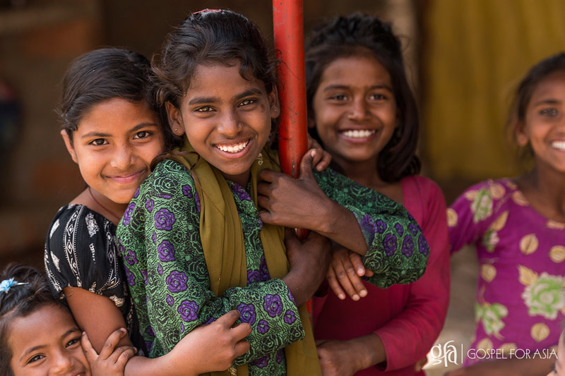 These girls live in a rural village in Asia - KP Yohannan - Gospel for Asia
