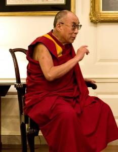 His Holiness the Dalai Lama practices tonglen.