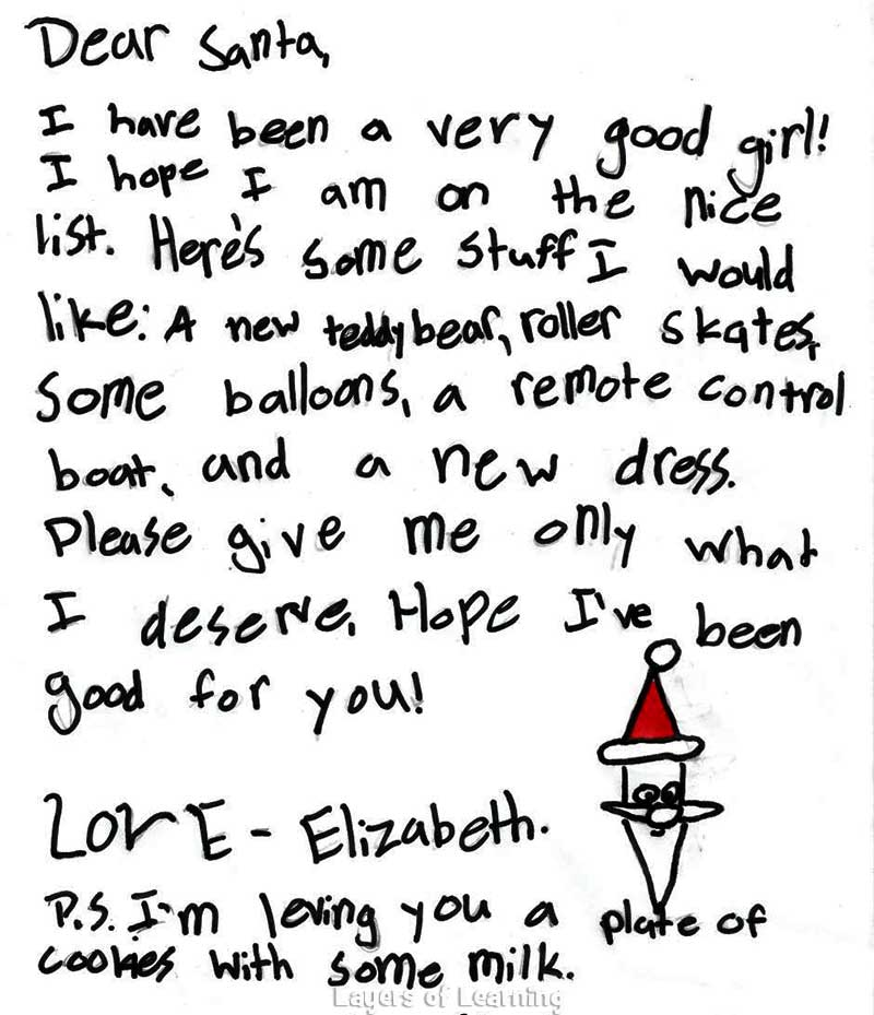 How to write letter from santa to child