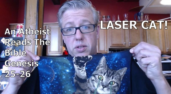 LAZER Cat + reading Genesis = AWESOME