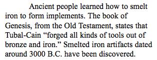 Iron Age Paradigm Accelerated Curriculum