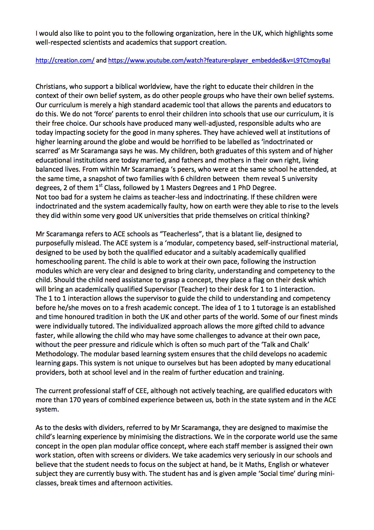Greg Hibbins letter 2