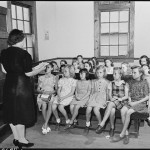 Sunday school at the Baptist church image by Russell Lee. Public domain.
