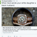 "Christian website runs article ""When God Sends Your Daughter a Black Husband"""