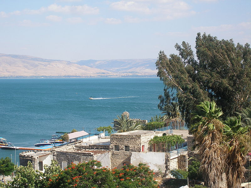 The Sea of Galilee in modern times. Image in the public domain.