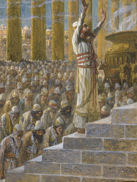 James Tissot, Solomon Dedicates the Temple. Image is in the public domain.