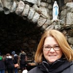 Lisa at Notre Dame's Grotto