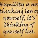 Humility: Constructing Solid Foundations