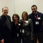 Enjoying an evening with Father Robert Barron, Sarah Reinhard and friends from my home parish.