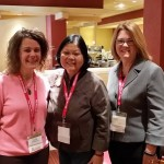 Sarah Reinhard and me with Dr. Carolyn Woo, President and Chief Executive Officer of Catholic Relief Services