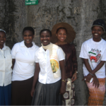 Sr.  Caroline, Mercyline, Edreen, Rose Mary and Emmanuela - Photo courtesy of Sr. Caroline, Paulines Africa