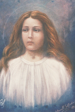 """Maria Goretti"" by Giuseppe Brovelli-Soffredini[1] (see here for possible life dates). - Original source of this reproduction is unknown. Licensed under Public Domain via Wikimedia Commons."