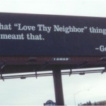 Loving your neighbor as yourself
