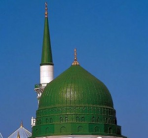 Dome of the Prophet's Mosque, By Abdul Hafeez Bakhsh. Via Wikimedia Commons.