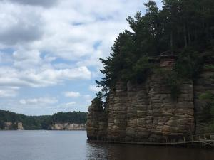 Upper Dells, Wisconsin river. Photo by Dailah Merzaban