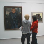 Anne Overstreet and Jeltsje Cusveller consider a painting at the Kroller Muller Museum.