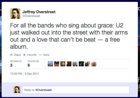 U2 tweet