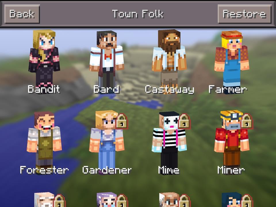 Minecraft Town Folk