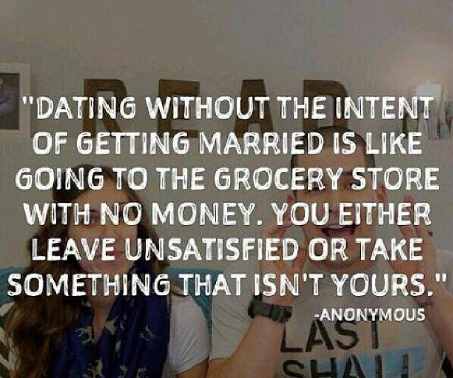 Dating Without The Intent Of Marriage Is Like