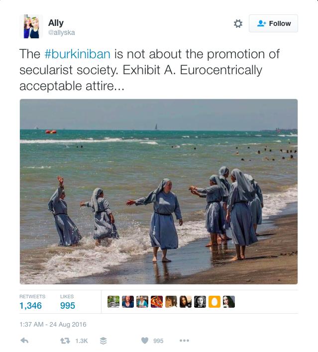 Still more nuns on the beach