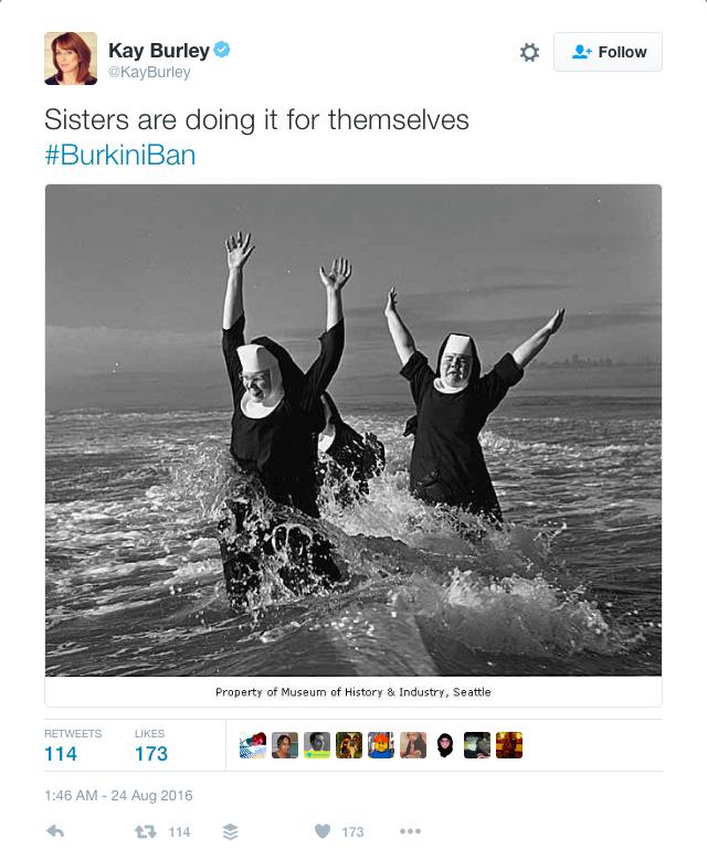 Yet more nuns on beach