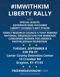 Flier for Huckabee's Kim Davis event.