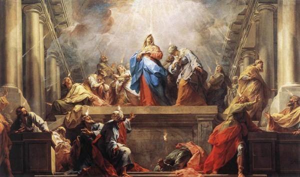 Jean_II_Restout_-_Pentecôte Queenship of Mary