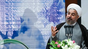 Rouhani mocking his extremist critics in a speech today.