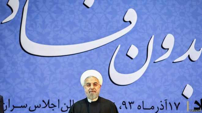 Rouhani Attacks the Revolutionary Guards In Speeches
