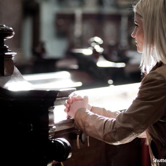 people-woman-praying-church