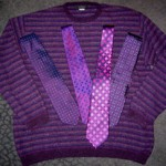 My Advent sweater and some of my Advent ties