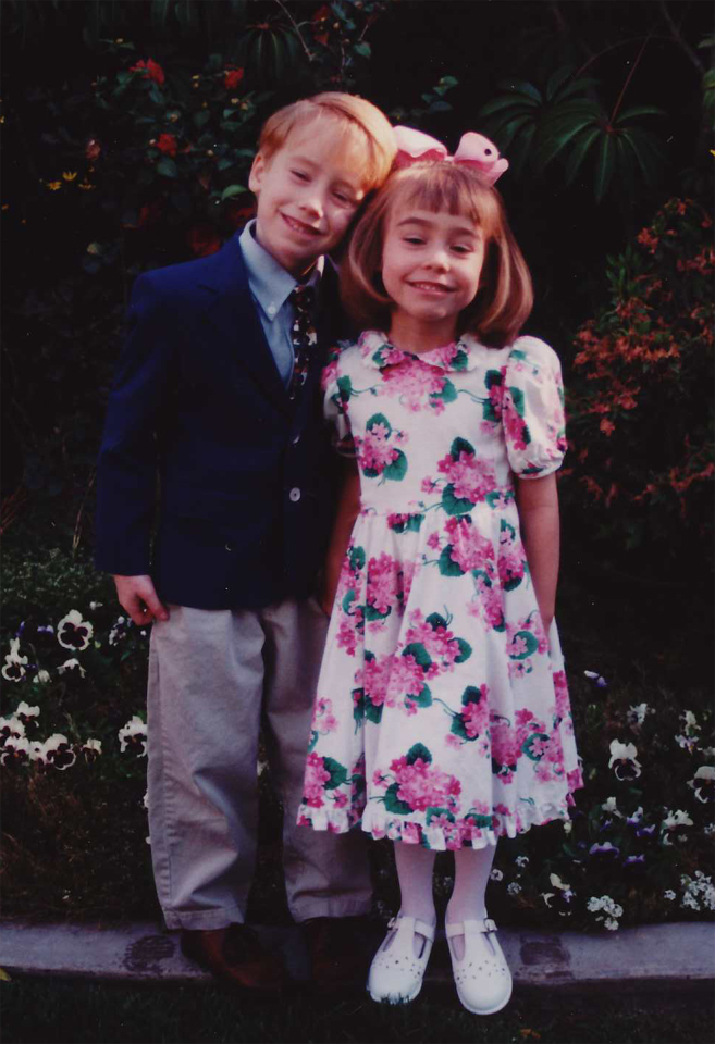 My children in their Easter Sunday finery in 1999.