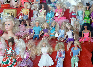 Anyone looking for spiritual guidance? Plenty of Barbies here. Photo from http://www.flickr.com/photos/clevergrrl/.