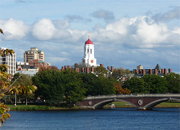 Dunster House of Harvard University, along the Charles River