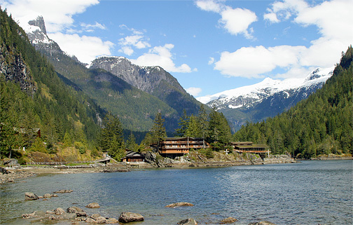 Maliub Club on Princess Louisa Inlet in British Columbia, Canada