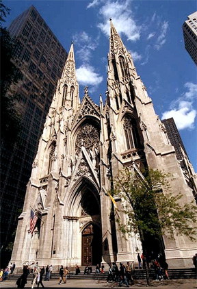 St. Patrick's Cathedral in New York City. This congregation doesn't have to meet in a school.