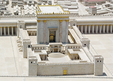Model of the temple in Jerusalem in the time of Jesus. From the Israel Museum.