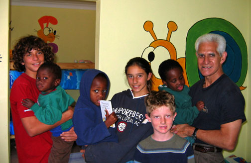 Members of Irvine Presbyterian Church caring for orphans in South Africa