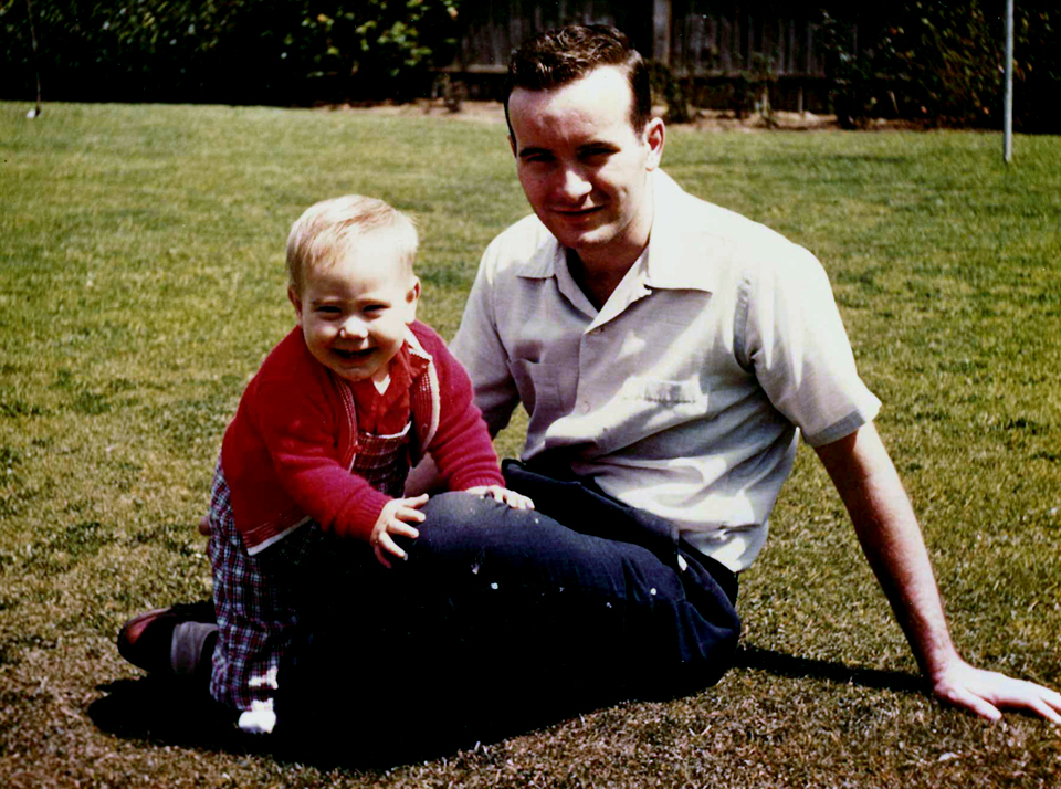 My dad and me, a long time ago