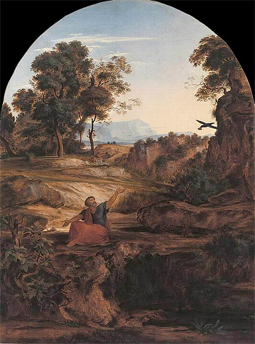 Ferdinand Olivier, Elijah in the Wilderness, 1831