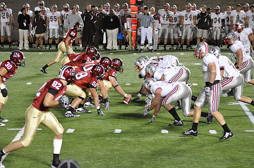 Harvard vs. Brown in 2009. Go Crimson!