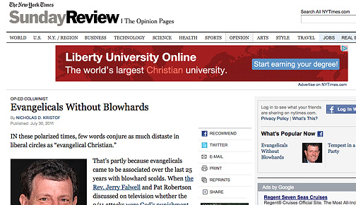 John Stott: Not an Evangelical Blowhard according to the Times