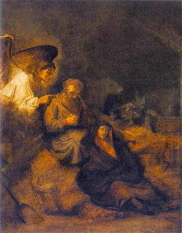 Rembrandt, The Dream of St. Joseph, 1650-55