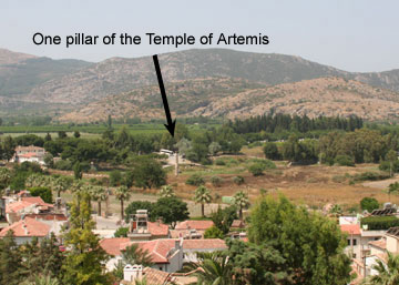 All that's left of the temple of Artemis near ancient Ephesus