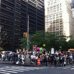 Occupy Wall Street protest in New York City.