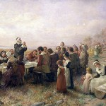 """The First Thanksgiving"" by Jennie August Brownscombe, 1914"
